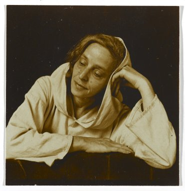 Consuelo Kanaga (American, 1894-1978). <em>Portrait of a Woman</em>. Toned gelatin silver photograph, 2 3/8 x 2 1/4 in. (6 x 5.7 cm). Brooklyn Museum, Gift of Wallace B. Putnam from the Estate of Consuelo Kanaga, 82.65.303 (Photo: Brooklyn Museum, 82.65.303_PS2.jpg)