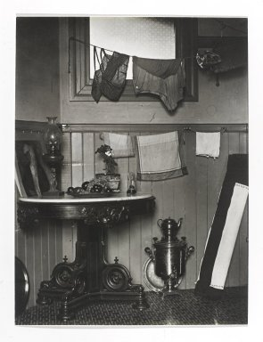 Consuelo Kanaga (American, 1894-1978). <em>[Untitled] (San Francisco Studio)</em>, early 1930's. Gelatin silver photograph, 3 7/8 x 3 7/8 in. (9.8 x 9.8 cm). Brooklyn Museum, Gift of Wallace B. Putnam from the Estate of Consuelo Kanaga, 82.65.30 (Photo: Brooklyn Museum, 82.65.30_PS2.jpg)