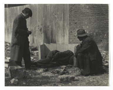 Consuelo Kanaga (American, 1894-1978). <em>Caring for Sick Friend</em>. Gelatin silver photograph, 6 1/4 x 8 in. (15.9 x 20.3 cm). Brooklyn Museum, Gift of Wallace B. Putnam from the Estate of Consuelo Kanaga, 82.65.317 (Photo: Brooklyn Museum, 82.65.317_PS2.jpg)