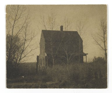 Consuelo Kanaga (American, 1894-1978). <em>[Untitled] (Farmhouse)</em>. Gelatin silver photograph, 2 7/8 x 3 1/2 in. (7.3 x 8.9 cm). Brooklyn Museum, Gift of Wallace B. Putnam from the Estate of Consuelo Kanaga, 82.65.325 (Photo: Brooklyn Museum, 82.65.325_PS2.jpg)
