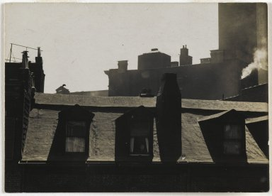 Consuelo Kanaga (American, 1894-1978). <em>[Untitled] (City Roofs)</em>. Gelatin silver photograph, Image: 2 13/16 x 3 7/8in. (7.1 x 9.8cm). Brooklyn Museum, Gift of Wallace B. Putnam from the Estate of Consuelo Kanaga, 82.65.331 (Photo: Brooklyn Museum, 82.65.331_PS2.jpg)