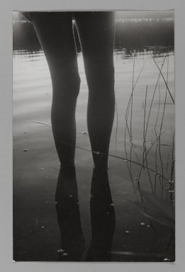Consuelo Kanaga (American, 1894-1978). <em>[Untitled] (Legs Reflecting in Water)</em>. Gelatin silver photograph, 10 3/4 x 7 in. (27.3 x 17.8 cm). Brooklyn Museum, Gift of Wallace B. Putnam from the Estate of Consuelo Kanaga, 82.65.353 (Photo: Brooklyn Museum, 82.65.353_PS1.jpg)