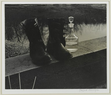 Consuelo Kanaga (American, 1894-1978). <em>[Untitled] (Boots by the Pond)</em>. Gelatin silver photograph, 10 5/8 x 12 5/8 in. (27 x 32.1 cm). Brooklyn Museum, Gift of Wallace B. Putnam from the Estate of Consuelo Kanaga, 82.65.376 (Photo: Brooklyn Museum, 82.65.376_PS2.jpg)