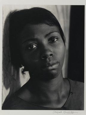 Consuelo Kanaga (American, 1894-1978). <em>Annie Mae Merriweather</em>, 1935. Gelatin silver photograph, 13 1/8 x 10 1/4 in. (33.3 x 26 cm). Brooklyn Museum, Gift of Wallace B. Putnam from the Estate of Consuelo Kanaga, 82.65.379 (Photo: Brooklyn Museum, 82.65.379_PS1.jpg)