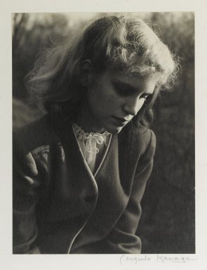 Consuelo Kanaga (American, 1894-1978). <em>[Untitled] (Carol Koch)</em>. Toned gelatin silver photograph, 9 7/8 x 7 1/2 in. (25.1 x 19.1 cm). Brooklyn Museum, Gift of Wallace B. Putnam from the Estate of Consuelo Kanaga, 82.65.380 (Photo: Brooklyn Museum, 82.65.380_PS2.jpg)