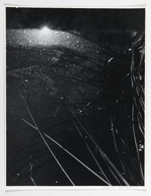 Consuelo Kanaga (American, 1894-1978). <em>[Untitled] (Into the Pond)</em>, 1974. Toned gelatin silver photograph, 13 3/8 x 10 3/8 in. (34 x 26.4 cm). Brooklyn Museum, Gift of Wallace B. Putnam from the Estate of Consuelo Kanaga, 82.65.386 (Photo: Brooklyn Museum, 82.65.386_PS1.jpg)