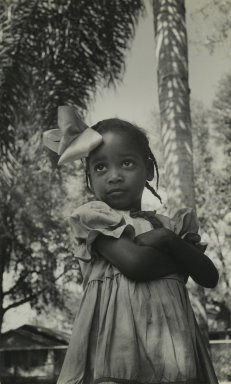 Consuelo Kanaga (American, 1894-1978). <em>[Untitled] (Southern Girl, Florida)</em>, 1950?. Gelatin silver photograph, 10 3/8 x 6 3/8 in. (26.4 x 16.2 cm). Brooklyn Museum, Gift of Wallace B. Putnam from the Estate of Consuelo Kanaga, 82.65.392 (Photo: Brooklyn Museum, 82.65.392_PS2.jpg)