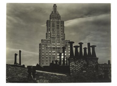 Consuelo Kanaga (American, 1894-1978). <em>[Untitled] (8th Street Roof Top)</em>, 1937. Gelatin silver photograph, 6 1/4 x 8 in. (15.9 x 20.3 cm). Brooklyn Museum, Gift of Wallace B. Putnam from the Estate of Consuelo Kanaga, 82.65.397 (Photo: Brooklyn Museum, 82.65.397_PS2.jpg)