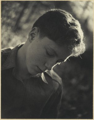 Consuelo Kanaga (American, 1894-1978). <em>[Untitled] (Steve)</em>. Gelatin silver photograph, Image: 9 3/4 x 7 5/8 in. (24.8 x 19.4 cm). Brooklyn Museum, Gift of Wallace B. Putnam from the Estate of Consuelo Kanaga, 82.65.3 (Photo: Brooklyn Museum, 82.65.3_PS2.jpg)
