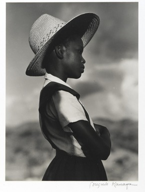 Consuelo Kanaga (American, 1894-1978). <em>School Girl,  St. Croix</em>, 1963. Gelatin silver photograph, Image: 9 3/8 x 7 in. (23.8 x 17.8 cm). Brooklyn Museum, Gift of Wallace B. Putnam from the Estate of Consuelo Kanaga, 82.65.407 (Photo: Brooklyn Museum, 82.65.407_PS2.jpg)