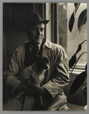 Consuelo Kanaga (American, 1894-1978). <em>[Untitled] (Nicholas Vasilief, Painter)</em>. Gelatin silver photograph, 9 5/8 x 7 5/8 in. (24.4 x 19.4 cm). Brooklyn Museum, Gift of Wallace B. Putnam from the Estate of Consuelo Kanaga, 82.65.414 (Photo: Brooklyn Museum, 82.65.414_PS2.jpg)