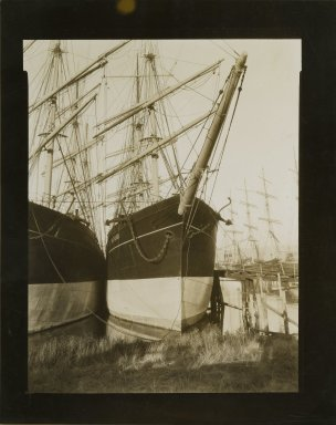 Consuelo Kanaga (American, 1894-1978). <em>[Untitled] (San Francisco Harbor)</em>, early 1930s. Gelatin silver photograph, 10 x 8 in. (25.4 x 20.3 cm). Brooklyn Museum, Gift of Wallace B. Putnam from the Estate of Consuelo Kanaga, 82.65.417 (Photo: Brooklyn Museum, 82.65.417_PS2.jpg)
