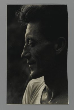 Consuelo Kanaga (American, 1894-1978). <em>[Untitled] (Harvey Zook)</em>. Gelatin silver photograph, 8 x 5 in. (20.3 x 12.7 cm). Brooklyn Museum, Gift of Wallace B. Putnam from the Estate of Consuelo Kanaga, 82.65.418 (Photo: Brooklyn Museum, 82.65.418_PS2.jpg)