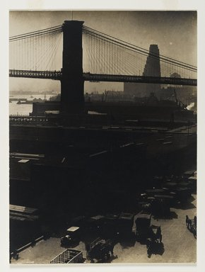 Consuelo Kanaga (American, 1894-1978). <em>[Untitled] (Pier 27)</em>, 1922-1924. Gelatin silver photograph, 9 3/4 x 7 1/4 in. (24.8 x 18.4 cm). Brooklyn Museum, Gift of Wallace B. Putnam from the Estate of Consuelo Kanaga, 82.65.420 (Photo: Brooklyn Museum, 82.65.420_PS1.jpg)
