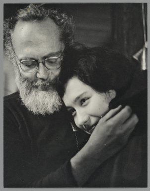 Consuelo Kanaga (American, 1894-1978). <em>[Untitled] (Eugene Smith and Japanese Friend)</em>. Gelatin silver photograph, 9 1/2 x 7 1/2 in. (24.1 x 19.1 cm). Brooklyn Museum, Gift of Wallace B. Putnam from the Estate of Consuelo Kanaga, 82.65.423 (Photo: Brooklyn Museum, 82.65.423_PS2.jpg)