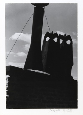 Consuelo Kanaga (American, 1894-1978). <em>Creatures on a Rooftop</em>, 1937. Gelatin silver photograph, Image: 9 1/8 x 6 1/4 in. (23.2 x 15.9 cm). Brooklyn Museum, Gift of Wallace B. Putnam from the Estate of Consuelo Kanaga, 82.65.427 (Photo: Brooklyn Museum, 82.65.427_PS2.jpg)