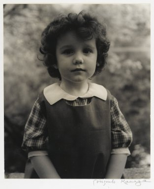 Consuelo Kanaga (American, 1894-1978). <em>[Untitled] (Portrait of a Girl)</em>. Gelatin silver photograph, image: 9 1/4 x 7 3/4 in. (23.5 x 19.7 cm). Brooklyn Museum, Gift of Wallace B. Putnam from the Estate of Consuelo Kanaga, 82.65.442 (Photo: Brooklyn Museum, 82.65.442_PS2.jpg)