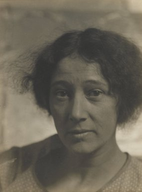 Consuelo Kanaga (American, 1894-1978). <em>[Untitled] (Self Portrait)</em>. Gelatin silver photograph, 4 x 3 in. (10.2 x 7.6 cm). Brooklyn Museum, Gift of Wallace B. Putnam from the Estate of Consuelo Kanaga, 82.65.444 (Photo: Brooklyn Museum, 82.65.444_PS2.jpg)