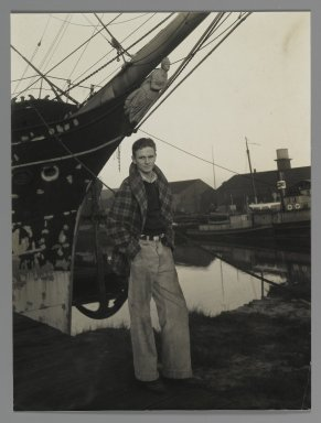 Consuelo Kanaga (American, 1894-1978). <em>[Untitled] Chick Brown (Marvin)</em>. Gelatin silver photograph, 8 1/8 x 6 1/8 in. (20.6 x 15.6 cm). Brooklyn Museum, Gift of Wallace B. Putnam from the Estate of Consuelo Kanaga, 82.65.457 (Photo: Brooklyn Museum, 82.65.457_PS2.jpg)