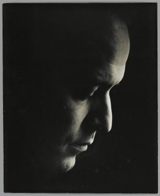 Consuelo Kanaga (American, 1894-1978). <em>[Untitled] (Frank Branceone, Pianist)</em>. Gelatin silver photograph, 9 1/16 x 7 7/16 in. (23 x 18.9 cm). Brooklyn Museum, Gift of Wallace B. Putnam from the Estate of Consuelo Kanaga, 82.65.459 (Photo: Brooklyn Museum, 82.65.459_PS2.jpg)