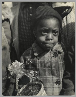 Consuelo Kanaga (American, 1894-1978). <em>Girl at Easter, New York</em>, mid-late 1930s. Gelatin silver photograph, 9 7/8 x 7 5/8 in. (25.1 x 19.4 cm). Brooklyn Museum, Gift of Wallace B. Putnam from the Estate of Consuelo Kanaga, 82.65.461 (Photo: Brooklyn Museum, 82.65.461_PS2.jpg)