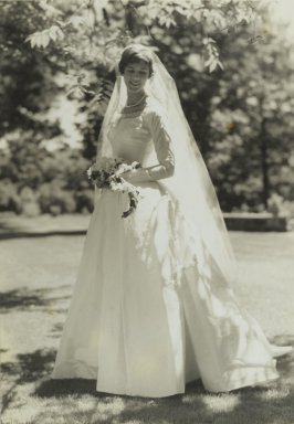 Consuelo Kanaga (American, 1894-1978). <em>[Untitled] (The Bride)</em>. Gelatin silver photograph, 10 1/2 x 7 1/4 in. (26.7 x 18.4 cm). Brooklyn Museum, Gift of Wallace B. Putnam from the Estate of Consuelo Kanaga, 82.65.46 (Photo: Brooklyn Museum, 82.65.46_PS2.jpg)