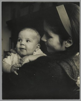 Consuelo Kanaga (American, 1894-1978). <em>[Untitled] (Young Mother with Baby)</em>. Gelatin silver photograph, 9 7/8 x 7 7/8 in. (25.1 x 20 cm). Brooklyn Museum, Gift of Wallace B. Putnam from the Estate of Consuelo Kanaga, 82.65.49 (Photo: Brooklyn Museum, 82.65.49_PS2.jpg)