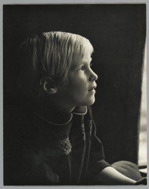Consuelo Kanaga (American, 1894-1978). <em>[Untitled] (Young Girl)</em>. Gelatin silver photograph, 9 1/2 x 7 1/2 in. (24.1 x 19.1 cm). Brooklyn Museum, Gift of Wallace B. Putnam from the Estate of Consuelo Kanaga, 82.65.51 (Photo: Brooklyn Museum, 82.65.51_PS2.jpg)