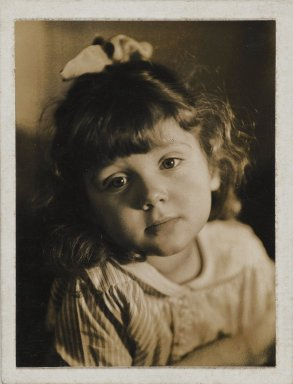 Consuelo Kanaga (American, 1894-1978). <em>[Untitled] (Girl)</em>. Gelatin silver photograph, Image: 4 x 3 in. (10.2 x 7.6 cm). Brooklyn Museum, Gift of Wallace B. Putnam from the Estate of Consuelo Kanaga, 82.65.57 (Photo: Brooklyn Museum, 82.65.57_PS2.jpg)