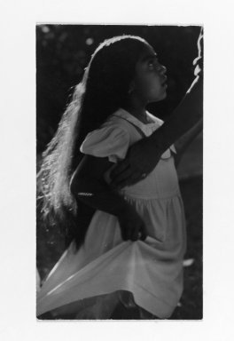 Consuelo Kanaga (American, 1894-1978). <em>[Untitled] (Indian Girl)</em>. Gelatin silver photograph, 5 5/8 x 3 1/8 in. (14.3 x 7.9 cm). Brooklyn Museum, Gift of Wallace B. Putnam from the Estate of Consuelo Kanaga, 82.65.61 (Photo: Brooklyn Museum, 82.65.61_PS2.jpg)