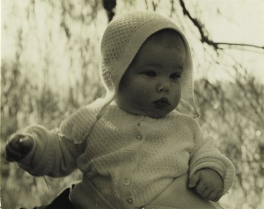 Consuelo Kanaga (American, 1894-1978). <em>[Untitled] (Baby)</em>. Gelatin silver photograph, 3 7/8 x 4 7/8 in. (9.8 x 12.4 cm). Brooklyn Museum, Gift of Wallace B. Putnam from the Estate of Consuelo Kanaga, 82.65.68 (Photo: Brooklyn Museum, 82.65.68_PS2.jpg)