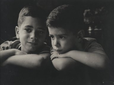 Consuelo Kanaga (American, 1894-1978). <em>[Untitled] (Dick and Tommy Plotz)</em>. Gelatin silver photograph, 8 7/8 x 12 1/8 in. (22.5 x 30.8 cm). Brooklyn Museum, Gift of Wallace B. Putnam from the Estate of Consuelo Kanaga, 82.65.6 (Photo: Brooklyn Museum, 82.65.6_PS2.jpg)