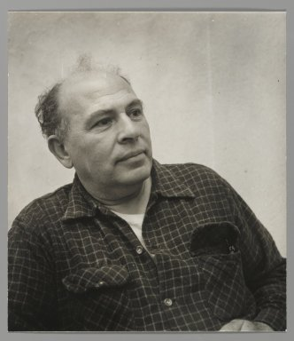 Consuelo Kanaga (American, 1894-1978). <em>[Untitled] (Abe Birnbaum)</em>. Gelatin silver photograph, 8 3/4 x 7 5/8 in. (22.2 x 19.4 cm). Brooklyn Museum, Gift of Wallace B. Putnam from the Estate of Consuelo Kanaga, 82.65.7 (Photo: Brooklyn Museum, 82.65.7_PS2.jpg)