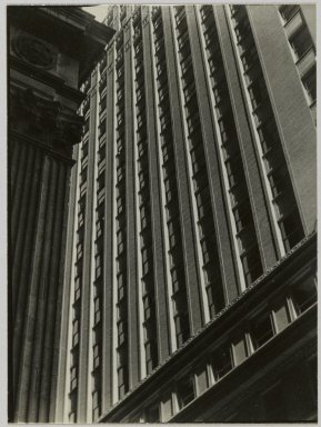 Consuelo Kanaga (American, 1894-1978). <em>[Untitled] (Architectural Abstraction, New York)</em>, 1930s or 1940s. Gelatin silver photograph, 3 x 4in. (7.6 x 10.2cm). Brooklyn Museum, Gift of Wallace B. Putnam from the Estate of Consuelo Kanaga, 82.65.86 (Photo: Brooklyn Museum, 82.65.86_PS2.jpg)