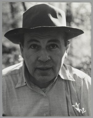 Consuelo Kanaga (American, 1894-1978). <em>[Untitled] (Abe Birnbaum)</em>. Gelatin silver photograph, 9 7/8 x 7 3/4 in. (25.1 x 19.7 cm). Brooklyn Museum, Gift of Wallace B. Putnam from the Estate of Consuelo Kanaga, 82.65.9 (Photo: Brooklyn Museum, 82.65.9_PS2.jpg)