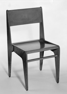 Marcel Breuer (American, born Hungary, 1902-1981). <em>Side Chair</em>, 1938. Birch plywood, solid wood, 33 1/8 x 18 3/8 x 19 in. (84.1 x 46.7 x 48.3 cm). Brooklyn Museum, Gift of Bryn Mawr College, 83.1.1. Creative Commons-BY (Photo: Brooklyn Museum, 83.1.1_bw.jpg)