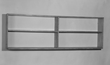 Marcel Breuer (American, born Hungary, 1902-1981). <em>Bookshelf</em>, 1938. Birch plywood and solid wood, 24 x 71 7/8 x 7 7/8 in. (61 x 182.6 x 20 cm). Brooklyn Museum, Gift of Bryn Mawr College, 83.1.3. Creative Commons-BY (Photo: Brooklyn Museum, 83.1.3_bw.jpg)