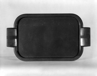 Henry Dreyfuss (American, 1904-1972). <em>Tray,  Match for Thermos Pitcher</em>, ca. 1935. Plastic, 7/8 x 12 1/4 x 7 in. (2.2 x 31.1 x 17.8 cm). Brooklyn Museum, Gift of Paul F. Walter, 83.108.4. Creative Commons-BY (Photo: Brooklyn Museum, 83.108.4_bw.jpg)