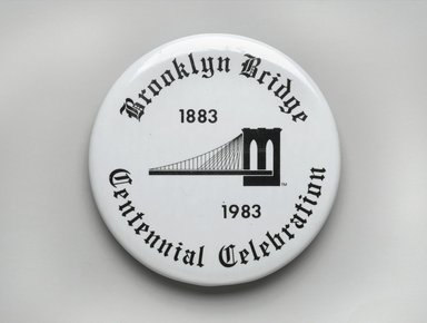 Unknown. <em>Button</em>, 1983. Metal, 1 in. (2.5 cm). Brooklyn Museum, Ella C. Woodward Memorial Fund, 83.126.9. Creative Commons-BY (Photo: Brooklyn Museum, 83.126.9_PS2.jpg)