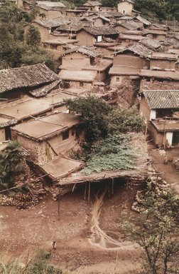 Eve Arnold (American, 1912-2012). <em>Kinming/Peasant Houses</em>, 1979. Chromogenic photograph, image: 17 x 11 in. (43.2 x 27.9 cm). Brooklyn Museum, Gift of the artist in memory of Gene Baro, 83.128.7. © artist or artist's estate (Photo: Brooklyn Museum, 83.128.7_transp3493.jpg)