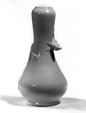 <em>Vase</em>, 18th century. Dehua ware, white stoneware, 5 3/8 x 2 3/4 in. (13.7 x 7 cm). Brooklyn Museum, Gift of Martin Greenfield, 83.166.2. Creative Commons-BY (Photo: Brooklyn Museum, 83.166.2_bw_SL4.jpg)