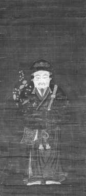 <em>Tenjin in Chinese Costume</em>, 15th century. Hanging scroll, ink and color on paper, 30 1/4 x 13 1/2 in. (76.8 x 34.3 cm). Brooklyn Museum, Gift of Dr. and Mrs. John P. Lyden, 83.168.14 (Photo: Brooklyn Museum, 83.168.14_bw_IMLS.jpg)
