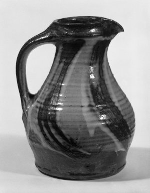 Hamada Atsuya (Japanese, born 1931). <em>Pitcher</em>, ca. 1960. Stoneware, 8 3/4 x 6 1/2 in. (22.2 x 16.5 cm). Brooklyn Museum, Gift of Mr. and Mrs. Richard Sneider, 83.173.8. Creative Commons-BY (Photo: Brooklyn Museum, 83.173.8_bw.jpg)