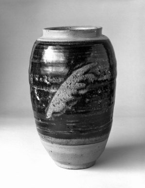 Takeda Toshio (Japanese, born 1932). <em>Vase</em>, ca. 1960. Stoneware, 8 1/4 x 4 1/2 in. (21 x 11.4 cm). Brooklyn Museum, Gift of Mr. and Mrs. Richard Sneider, 83.173.9. Creative Commons-BY (Photo: Brooklyn Museum, 83.173.9_bw.jpg)