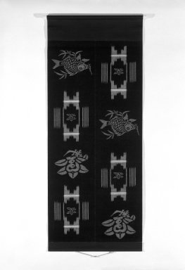<em>Kasuri (Ikat) Textile</em>, late 19th century. Cotton, Exclusive mounting: 54 x 25 3/8 in. (137.2 x 64.5 cm). Brooklyn Museum, Gift of Dr. Kenneth Rosenbaum, 83.191.2 (Photo: Brooklyn Museum, 83.191.2_bw.jpg)