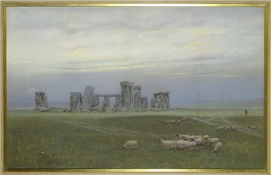William Trost Richards (American, 1833-1905). <em>Stonehenge</em>. Opaque watercolor and pastel on wove paper, 23 1/8 × 36 3/8 in. (58.7 × 92.4 cm). Brooklyn Museum, Gift of George Klauber, 83.199 (Photo: Brooklyn Museum, 83.199_SL3.jpg)