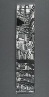 Karen Riedener (American, born 1946). <em>Brooklyn Bridge</em>, 1982. Gelatin silver print photocollage, 48 x 10 in. (121.9 x 25.4 cm). Brooklyn Museum, Gift of Bertha Urdang Gallery, 83.209. © artist or artist's estate (Photo: Brooklyn Museum, 83.209_PS1.jpg)