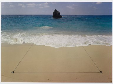 John Pfahl (American, 1939-2020). <em>Triangle, Bermuda</em>, 1975; printed 1981. Dye-transfer print, Sheet: 8 1/2 x 11 in. (21.6 x 27.9 cm). Brooklyn Museum, Gift of Ed Perlberg, 83.218.1. © artist or artist's estate (Photo: Brooklyn Museum, 83.218.1_PS6.jpg)