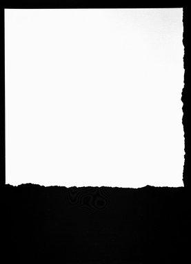 Stephen Antonakos (American, born Greece, 1926-2013). <em>Tear I</em>, 1979. Silkscreen collage with hand torn forms, 30 1/4 x 21 15/16 in. (76.8 x 55.7 cm). Brooklyn Museum, Gift of Paul Leeman, 83.219.1. © artist or artist's estate (Photo: Brooklyn Museum, 83.219.1_bw.jpg)