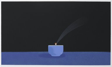 Ching Ho Cheng (American, 1946-1989). <em>Tea Cup</em>, 1978. Silkscreen airbrush, 20 x 24 in. (50.8 x 61 cm). Brooklyn Museum, Gift of Paul Leeman, 83.219.6. © artist or artist's estate (Photo: Brooklyn Museum, 83.219.6_PS9.jpg)